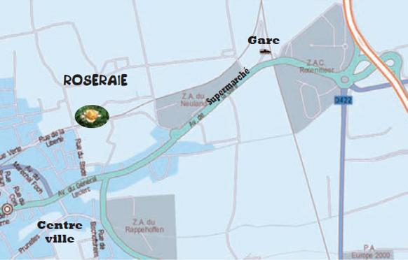 Roseraie Rosheim - Plan d'accès